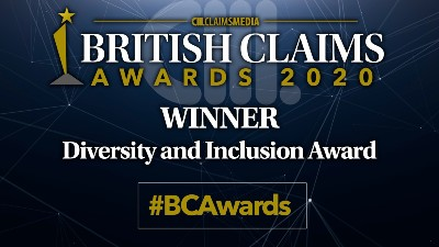 Winner of British Claims Awards 2020 in Diversity and Inclusion Award #BCAwards